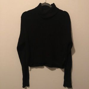 Sweaters - Forever21 Cropped Black Turtleneck